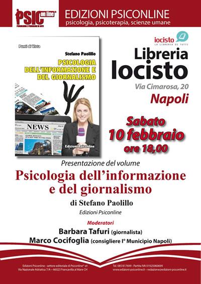 Psicologia dell'informazione e del giornalismo alla Libreria Iocisto di Napoli