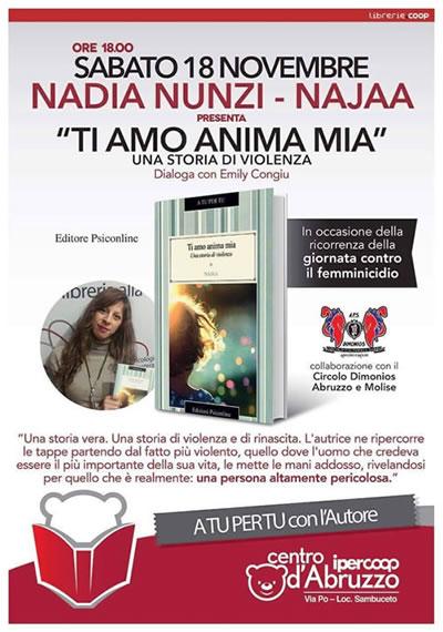 Nadia Nunzi incontra il pubblico presso la Libreria Coop del Centro Ipercoop d'Abruzzo