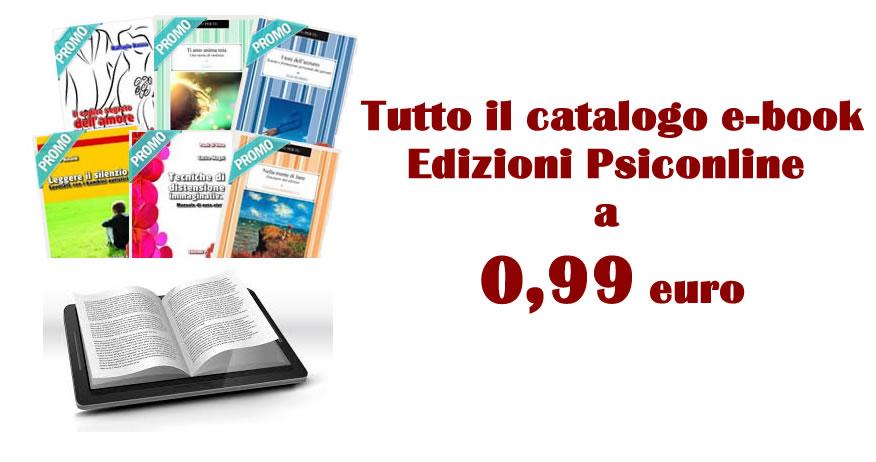Tutto il catalogo e-book di Edizioni Psiconline a 0,99 euro dal 5 all'8 gennaio 2017