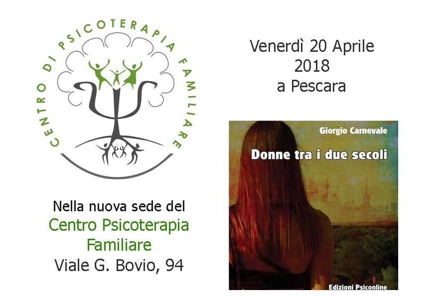 Giorgio Carnevale presenta il saggio Donne tra i due secoli presso il Centro di Psicoterapia Familiare di Pescara